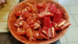 Tomatoes and Capscicum