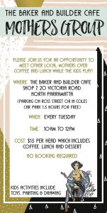 ParraParents Launch Competition 1: The Baker and Builder Mothers Group