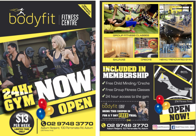 Bodyfit Gym Original Offer (without ParraParents/PDM discount)