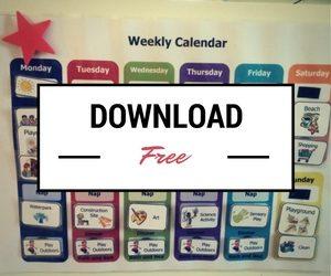 weekly activity calendar
